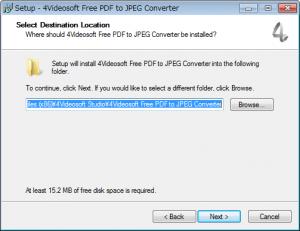 JPEGからPDFに変換するフリーソフト「4Videosoft Free PDF to JPEG Converter」インストールウィザード3