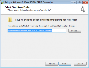 JPEGからPDFに変換するフリーソフト「4Videosoft Free PDF to JPEG Converter」インストールウィザード4