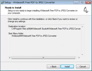 JPEGからPDFに変換するフリーソフト「4Videosoft Free PDF to JPEG Converter」インストールウィザード5