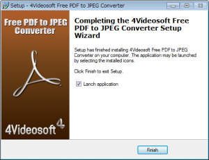 JPEGからPDFに変換するフリーソフト「4Videosoft Free PDF to JPEG Converter」インストールウィザード6