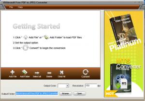 PDFからJPEGに変換するPDF変換フリーソフト「4Videosoft Free PDF to JPEG Converter」 操作