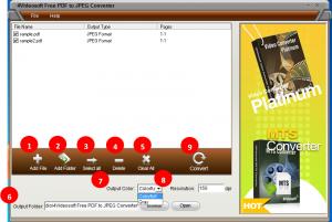 PDFからJPEGに変換するPDF変換フリーソフト「4Videosoft Free PDF to JPEG Converter」 操作3