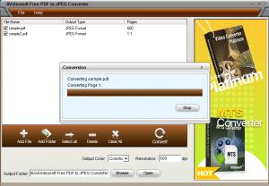 PDFからJPEGに変換するPDF変換フリーソフト「4Videosoft Free PDF to JPEG Converter」 操作6