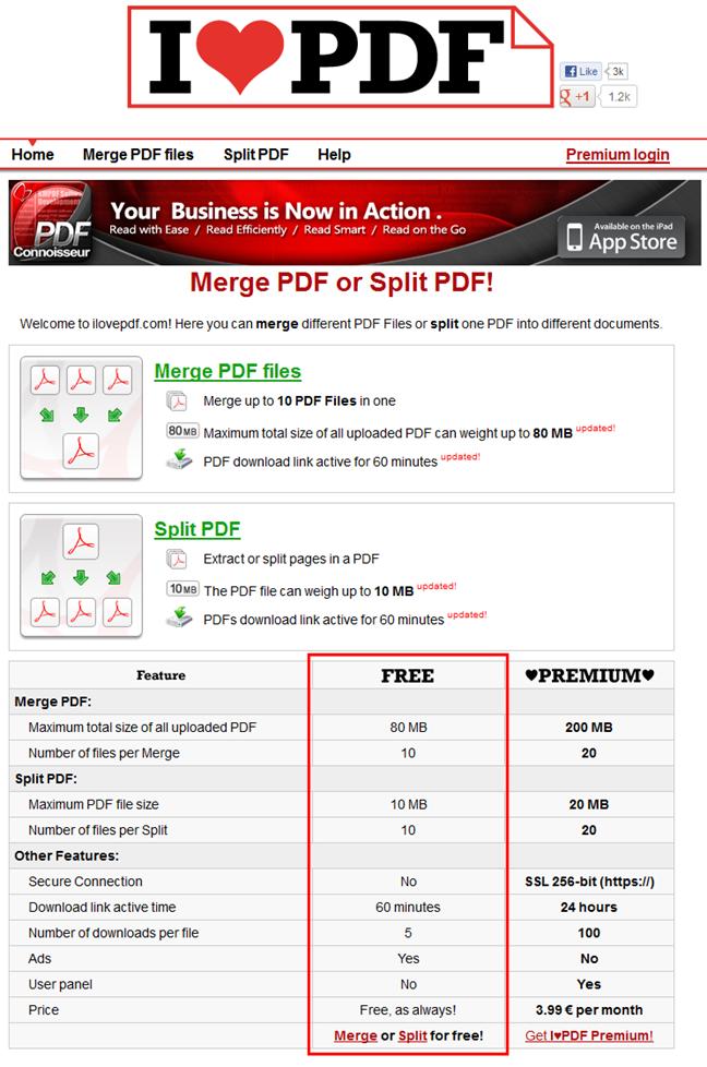 ilovepdf.com(ブラウザだけでPDFファイルを分割・結合できるウェブサービス)