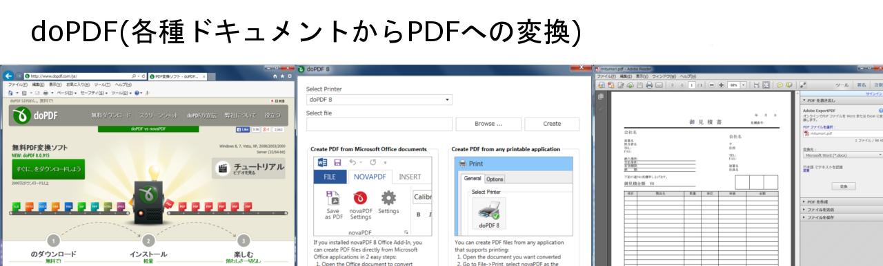 doPDF(各種ドキュメントからPDFへの変換)