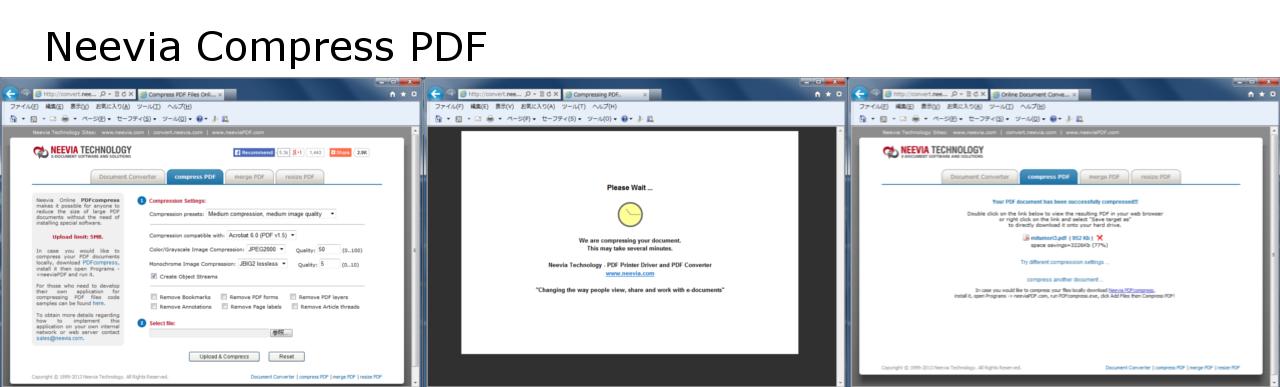 Neevia Compress PDF(PDFの圧縮)