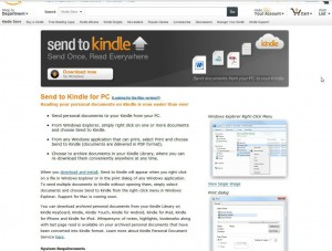 send to Kindle for pc download page (Amazon.com)